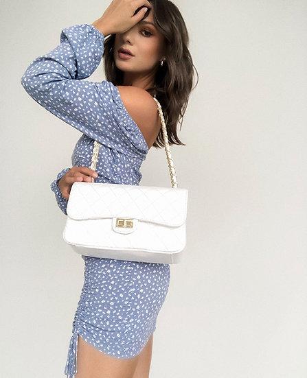 Imma Diamond Stitched Medium Handbag
