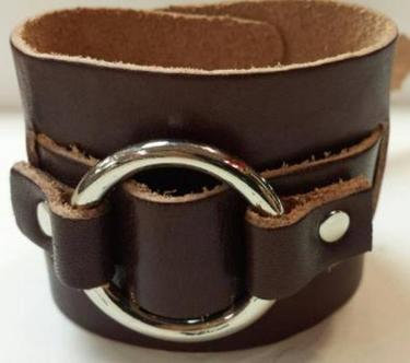 "2"" Single Ring Leather Bracelet"