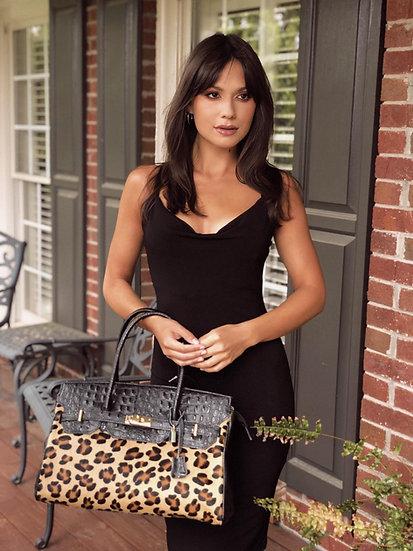Alina Large Handbag with Fur