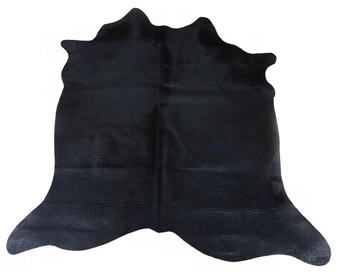 Black Croco Fur Rug