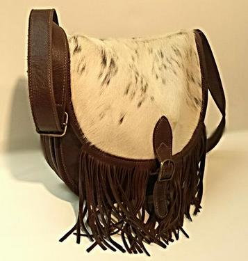 Elucy Medium Fringed Half Moon Cross Body