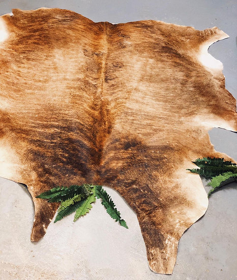 Bristol Brown Brindle Cow Hide Rug