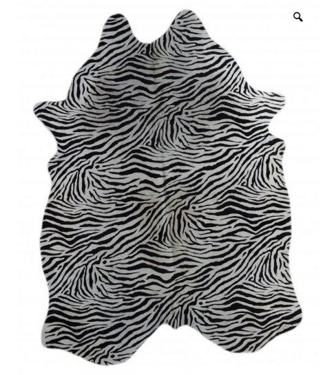 Baby Zebra Cow Hide Rug