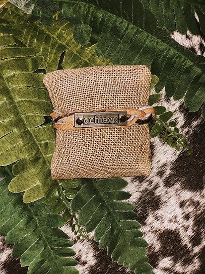 Olivia Positive Inspiration Embellished Braided Mini Cuff