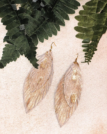 Lilith Double Feather Earrings