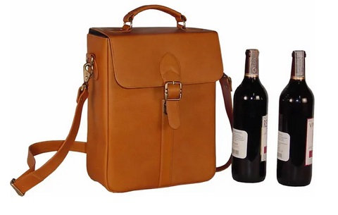 Anacleto Large Double Wine Bottle Carrier