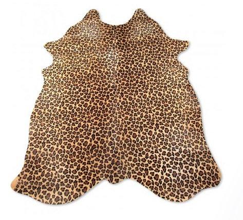 Leopard Cow Hide Rug