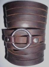 """4"""" Fringe with Ring Leather Bracelet"""