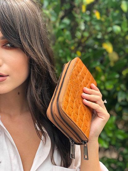 Giana Exotic Small Double Zip Wallet