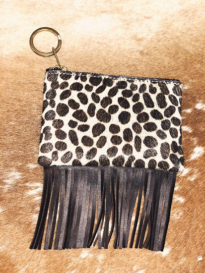 America Fringed Exotic Fur Mini Pochette