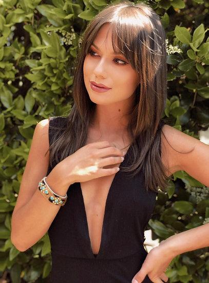 Alison turquoise embellished cuff