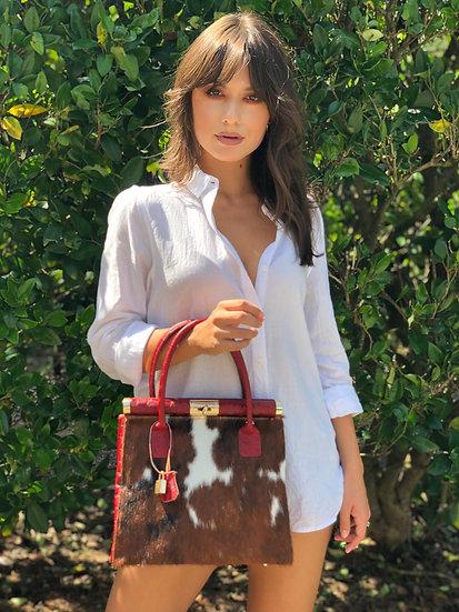 Milana Small Handbag with Fur