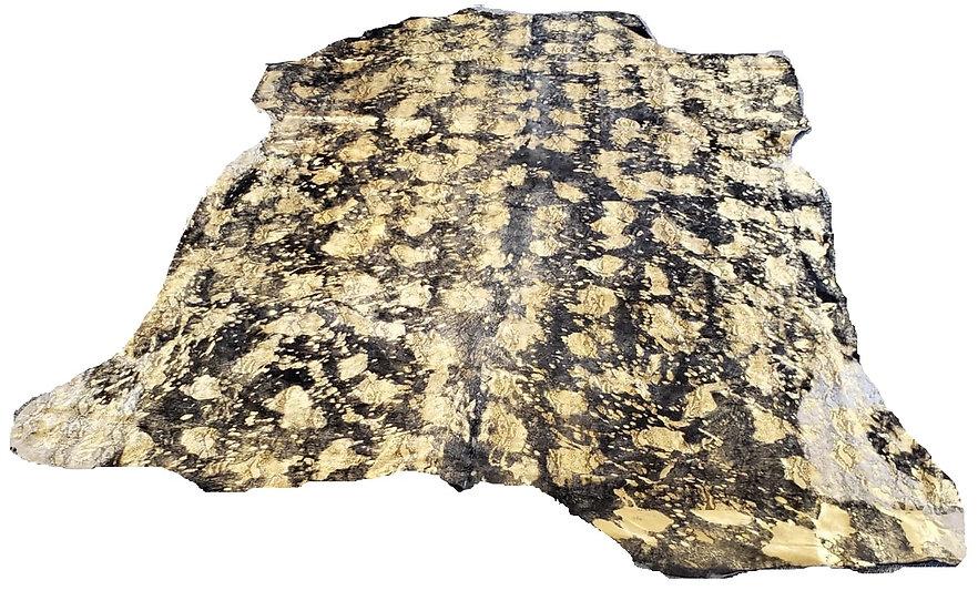 Gold Python Cow Hide Rug