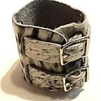 Blair Double Buckle Leather Cuff