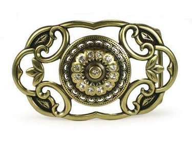 BRASS ROUND CENTER BUCKLE