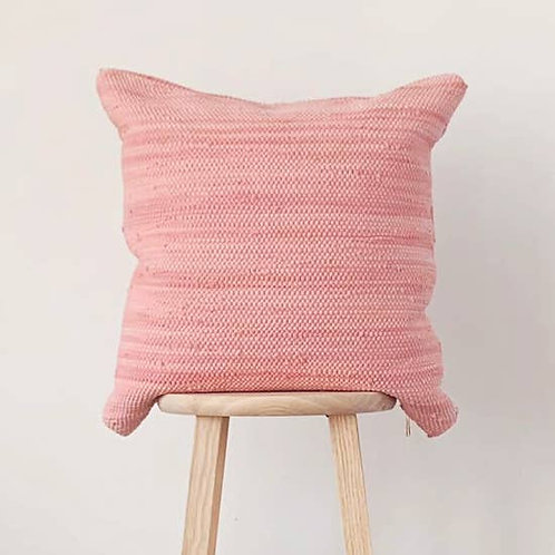 Pillowpia Handcrafted Chindi Rag Rug Pillow - Rose