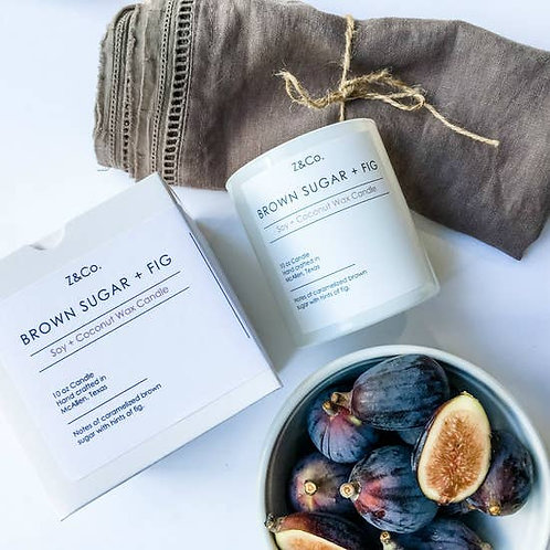 Z & Co Brown Sugar & Fig Soy and Coconut Wax Candle