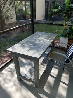 Outdoor Plank Top Table