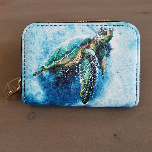 Zippered wallet -Sea Turtle