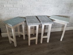 Colored top side tables 10x16