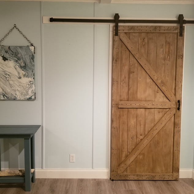 Office barn door