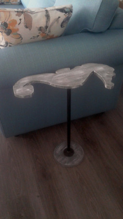 Seahorse chair side table