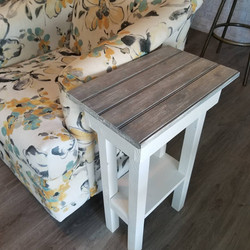 Narrow Chairside Table Driftwood