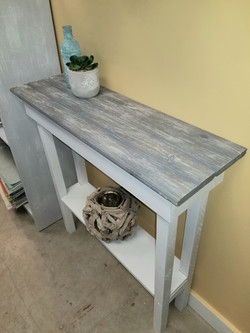Plank top entry table