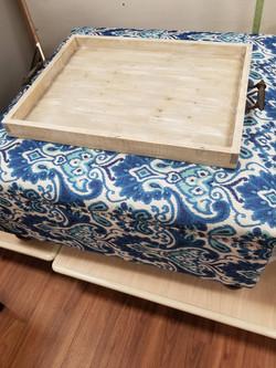 Extra large ottoman tray