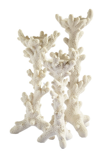Coral look candle sticks