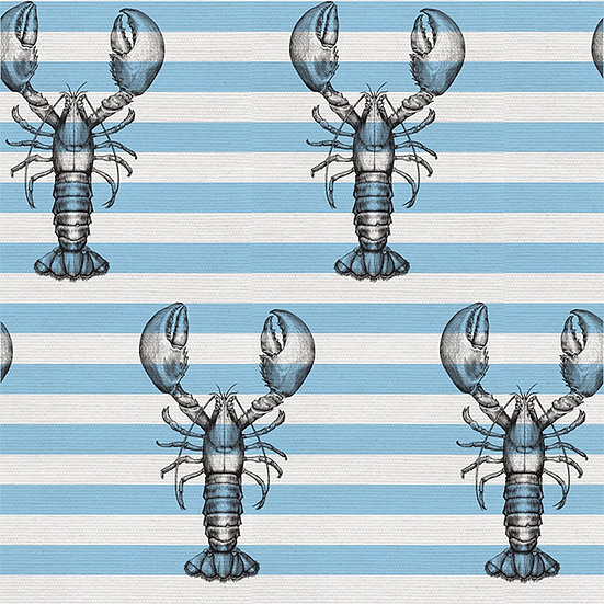 Lobster on Stripe. Colour: Sky