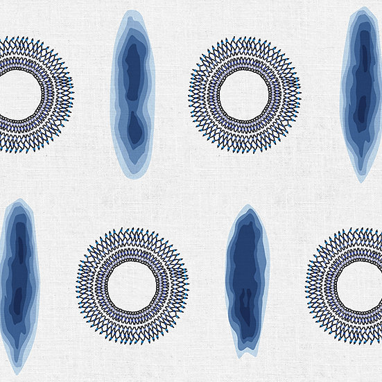 Faded Boards & Circles. Colour: Navy