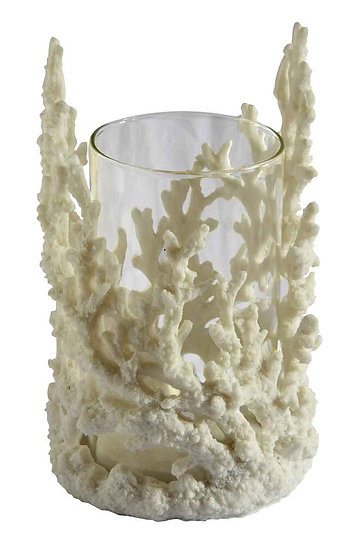 Coral Look Hurricane vase