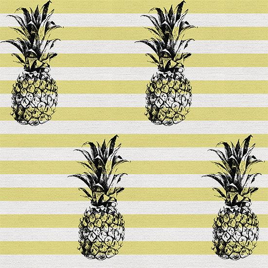 Pine Pine on Stripes. Colour: Sunshine