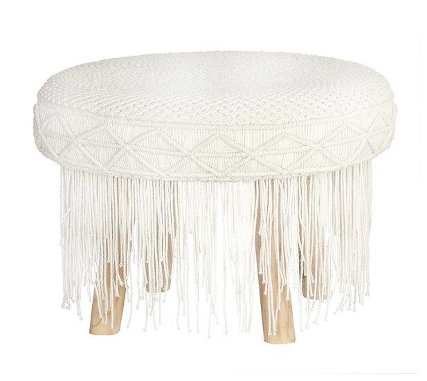 Macrame stool