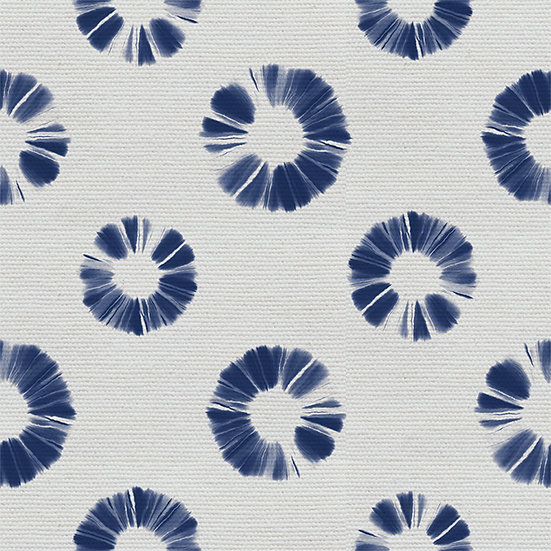 Shibori Circles. Colour: Navy