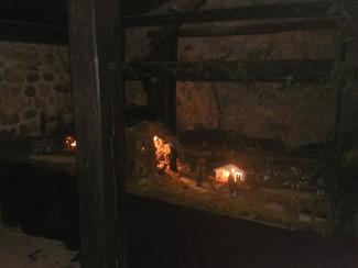 Instalación de un belén en El Potro