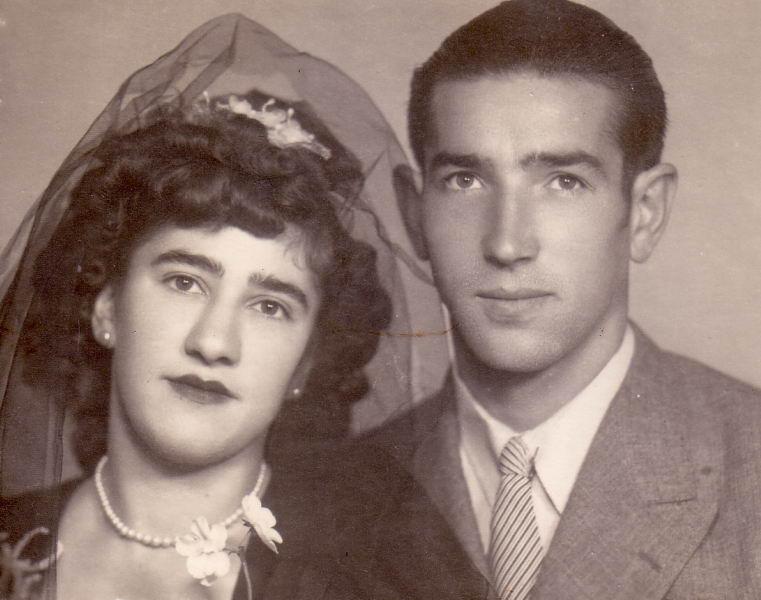 025.- 1945 aprox. - Boda de Tasio y Josefa