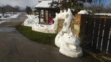 Arte con la nieve en Quintanilla