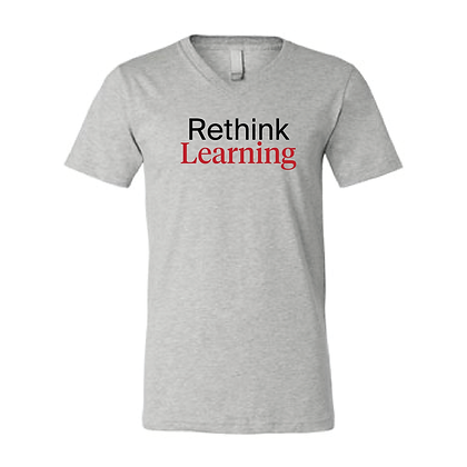 Lambda Rethink Learning - V-Neck Tee Athletic Heather