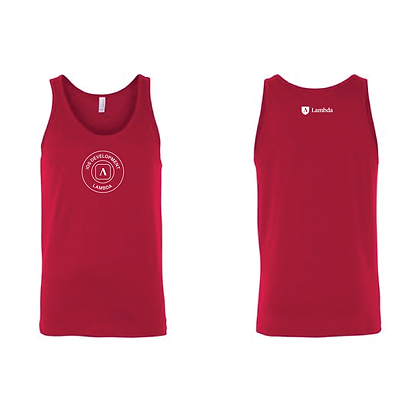 Lambda Stamp IOS - Tank - Red