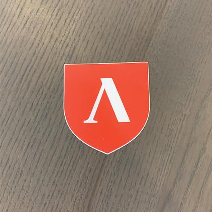 Lambda Shield Sticker