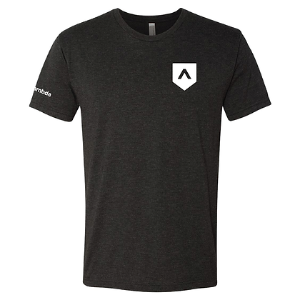 Lambda Small Shield 2.0: Unisex Tee - Black
