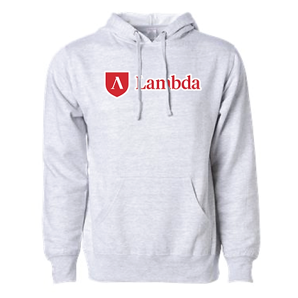 Lambda Pullover Hoodie - Heather Gray