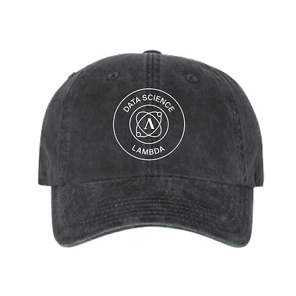 Lambda Stamp DS - Dad Hat - Black