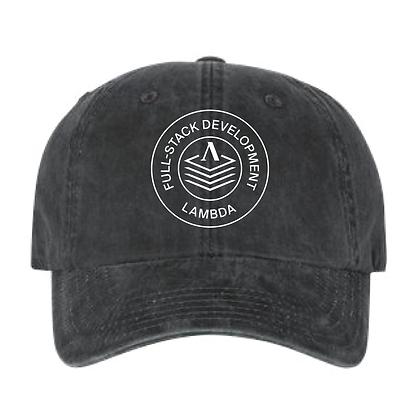 Lambda Stamp WEB - Dad Hat - Black