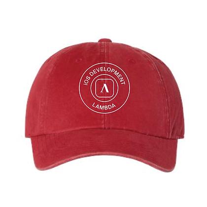 Lambda Stamp IOS - Dad Hat -Red