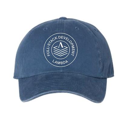 Lambda Stamp WEB - Dad Hat - Blue