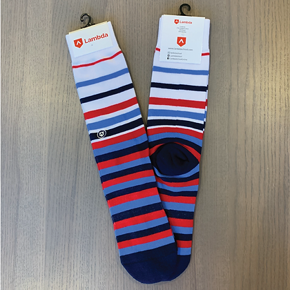 Lambda Socks - Stripe Pattern