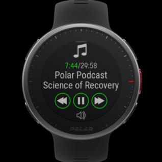 Navigiere mit deiner Uhr ganz einfach durch deine Playlist und stelle die Lautstärke ein. Die Polar Vantage V2 verbindet sich mit deiner Musik-App und ermöglicht die Musiksteuerung, ohne dass du dein Smartphone herausholen musst.  Video ansehen: